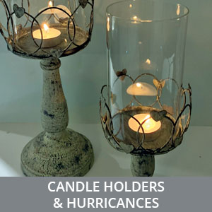 Candle Holders & Hurricanes