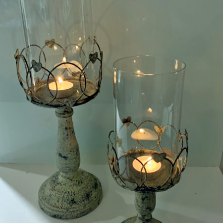 Wire Heart Candle Holder
