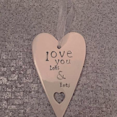 Love You Lots Ceramic Heart