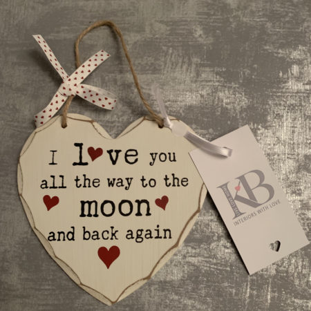 Love You To The Moon And Back Heart With Rope Handles