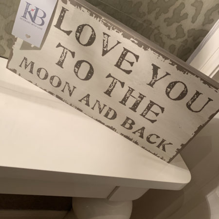 'Love You To The Moon And Back' Chunky Slogan Plaque