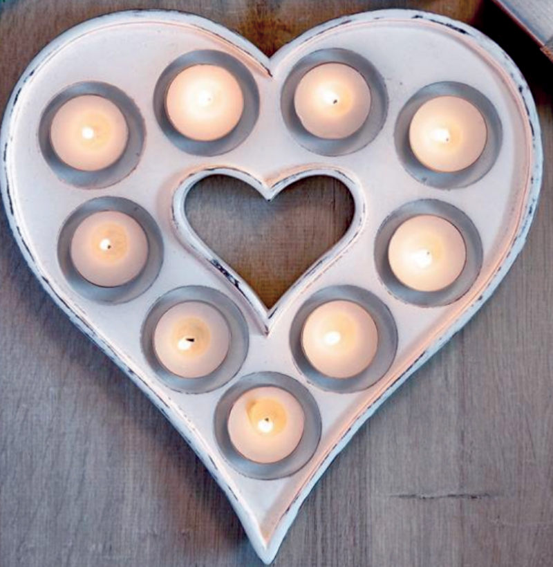 Heart T Light Candle Holder